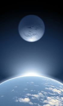 Vaade Maale kosmosest