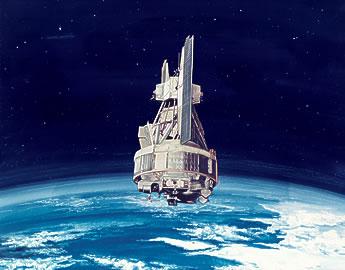 Satelliit Nimbus Maa orbiidil